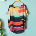 Plus Chiffon women T-shirt top Blouse Loose casual top short sleeve S-XXXL