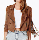 2015 new women leather suede back Long tassels coat jacket out coat blouse