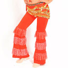 ON SALE belly dance pants shinny ruffles flare pants for practise various colors