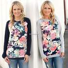 Womens Floral Hoodie Sweatshirt Casual Tops Blouse Pullover Outwear Jacket Coat