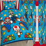 "Nintendo Mario Games Single Duvet and Matching Curtains 72"" Drop Bed Set"