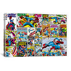 Marvel Comics Captain America Cover and Panel Graphic Art on Wrapped Canvas
