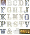 Standing LED Light Up Carnival Marquee Letter White Wooden Chic Shabby Battery