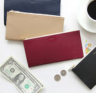 Caily Flat Wallet Long Purse Zipper Zip Around Card Pocket Case Coin Holder