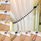 Fashion Crystal Glass Bead Tieback Window Curtain Drapery Hold Rope Home Decor