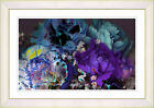 Scented Bloom by Zhee Singer Framed Painting Print in Purple/Blue