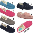 Womens Ladies Warm Ultra Light Slip On Faux Fur Lined Comfort Mules Shoes Sizes