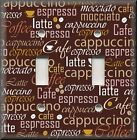 Metal Light Switch Plate Cover - Kitchen Decor Coffee Brown With Coffee Words