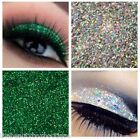 Glitter Eyes - Duo Silver & Emerald Holo Eye Shadow Fixing gel Long Lasting