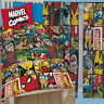 "Marvel Comics Defenders Single Duvet and Matching Curtains 72"" Drop Bed Set Xmen"