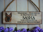 DOG SIGN PERSONALISED GERMAN SHEPHERD SIGN ALSATION BEWARE OF THE DOG SIGN GIFT