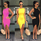 2016 Women Summer Casual Sleeveless Evening Party Cocktail Short Mini Dress
