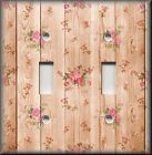 Shabby Chic Home Decor - Light Switch Plate Cover - Roses On Wood Image 03