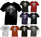 1-DEMON RIDER TATTOO GHOST SKULL TOOLS MOTORCYCLE GEAR GRAPHIC PRINTED TEE-SHIRT