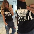 Fashion Women Short Sleeve Loose T-shirts Summer Casual Cotton Tops Shirt Blouse