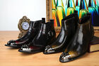 US Size 5-12 Leather Formal Dress Mens Loafer Ankle Boots Shoes & Free Cufflink