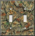 Metal Light Switch Plate Cover Tree Camo Decor Rustic Cabin Decor Hunting Decor