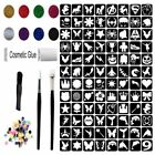 Glitter Tattoo Kit 9 - 86 Boys & Girls Large Stencils Princess Super Hero Flower
