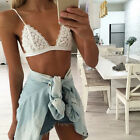 Women's Sexy Slim small Bra Lingeri Floral Sheer Lace Triangle Bralette Unpadded