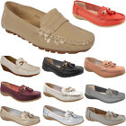 New Womens Ladies Slip On Flat Work Office Loafers Moccasins Casual Pumps Shoes
