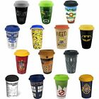 Ceramic Travel Mug New & Official: Harry Potter / Batman / Dr Who / Ghostbusters