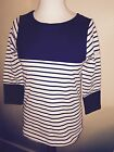 JOULES Harbour Top  Navy Block Stripe 8 Free UK P&P