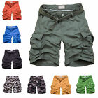 New Mens Casual Cotton Summer Army Combat Camo Work Cargo Shorts Pants Trousers