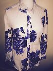JOULES Maywell Cream Blue  Floral Shirt Sz 8 RP£49.95 FreeUKP&P