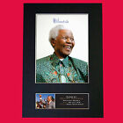 NELSON MANDELA Mounted Signed Photo Reproduction Autograph Print A4 365