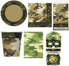 CAMOUFLAGE CAMO ARMY MILITARY KIDS BOYS PARTY RANGE ITEMS TABLEWARE BIRTHDAY