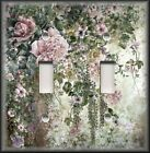 Light Switch Plate Cover - Flower Garden 02 - Floral Home Decor - Roses