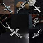 Vintage Mens Boys Titanium Steel Cross Pendant For Necklace Chain Antique Silver