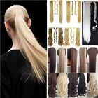 Synthetic Long Curly Hair Wrap Around Ponytail Hair Extensions Bleach BlondeMUh1