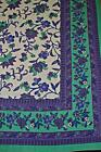 NEW BEAUTIFUL COTTON BLUE FLORAL BEDSPREAD BED THROW WALL HANGING QUEEN/DOUBLE