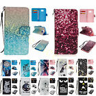 Fashion PU Leather With Strap Flip Card Wallet Magent Case Cover For Smart Phone