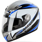 Nitro Kenshi Fibreglass ACU Gold Motorcycle Helmet Sharp 5 Star Black/White/Blue