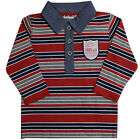 Timberland Long Sleeve Stripe Kids Boys Cotton Red Polo Shirts T0C19 968 U3B