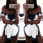Summer Women Bodycon Bandage Jumpsuit PlaySuit Party Romper Shorts Trousers S-XL