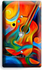 COLORFUL GUITAR MUSIC KEYNOTE LIGHT SWITCH PLATE OUTLET WALL COVER STUDIO DECOR