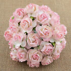 Mulberry Paper Flowers 5 x WILD ROSES 30mm Cardmaking Paper Crafts Embellishment