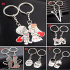 Novelty Couple Keychain Silver Trinket Heart Key Chains Rings Wedding Jewelry