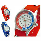 Reflex Kids Childs Soccer Design Watch 3D Silicone Strap Football Blue Or Red