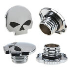 SKULL GAS TANK FUEL CAP COVER FOR HARLEY DYNA SPORSTER SOFTAIL HERITAGE FATBOY
