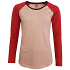Timberland EK Colour Block Womens Long Sleeve Cotton Tops Tee (4962J 660 U3)