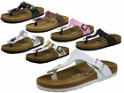 WOMENS MOJO SLIP ON FLAT MOLDED FOOTBED TOE POST MULE SANDALS SHOES SIZES 3 - 9