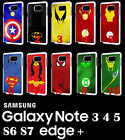 Marvel Justice League Samsung Galaxy Note 8 9 S7 S8 S9 Plus RUBBER Case Phone