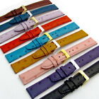 Genuine Leather Watch Strap Ostrich Grain 9 Colours 16mm 18mm 20mm Free Pins