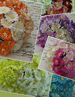 Mulberry Paper Flowers 50 COSMOS DAISIES Embellishments for Cardmaking & Crafts