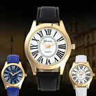 Geneva Men's Watch Leather Analog Business Quartz Wrist Watch
