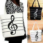 Hot New Women Casual Canvas Musical Note Tote Shopping Shoulder Bag Girl Handbag